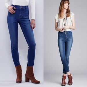 •Free People• Beverly High Rise Skinny Jeans Blue